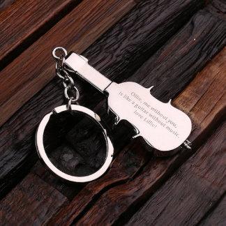 Personalized Steel Key Chain – Violin