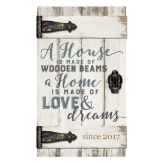 """""""A House is Made of"""" Barn Door Pallet Plaque"""