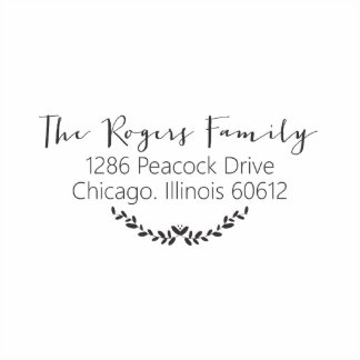 Rogers Self Inking Stamp