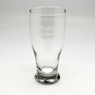 Custom Sand Etched Pub Glass #14