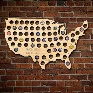 Personalized Beer Cap Map of the USA
