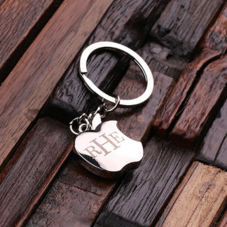 Personalized Stainless Steel Key Chain – Apple