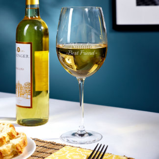 Baldovino Personalized Large White Wine Glass