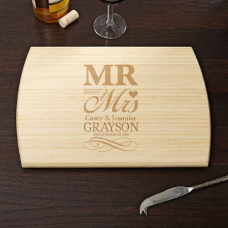 Wedding Day Personalized Cutting Board