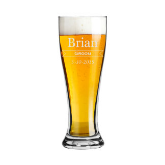 Groomsmen Gift Personalized Beer Glasses