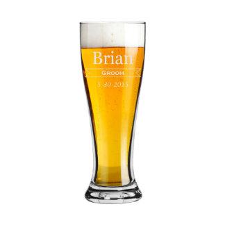 Vidrios de cerveza personalizados regalo de los