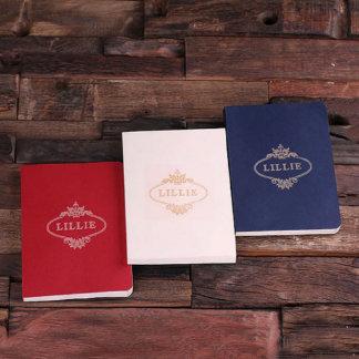 Diario personalizado - rojo, blanco, sistema del