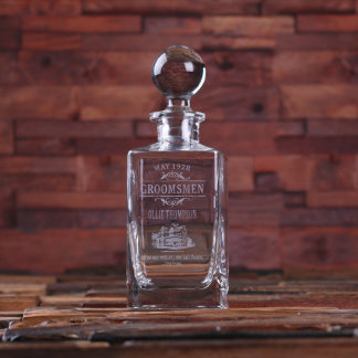Personalized Whiskey Decanter w/ Round Stopper