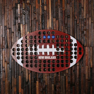 Personalized Beer Cap Map Football New England