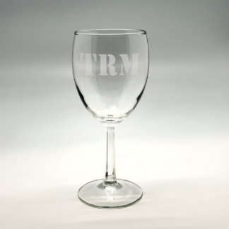 Personalized Monogram Sand Etched Wine Glass