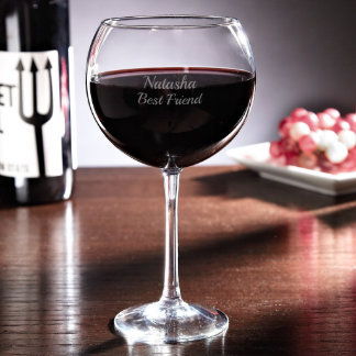 Personalized Red Wine Glass - 19oz
