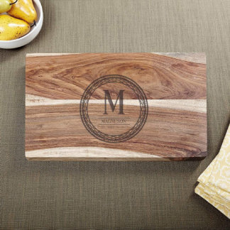 Exotic Hardwood Celtic Circle Personalized Cutting