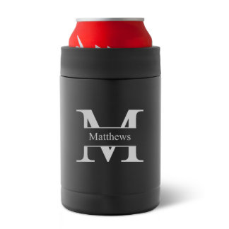 Matte Black Double Wall Insulated Can Holder