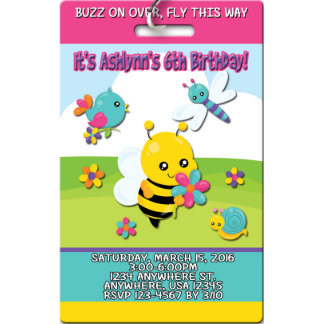 Spring Time Bugs & Critters Birthday Invitations