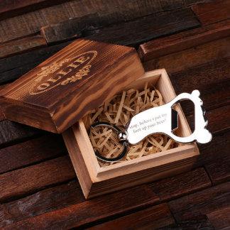 Custom Steel Foot Key Chain & Bottle Opener w/Box