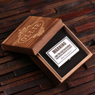Custom Stainless Steel Business Card Holder w/ Box