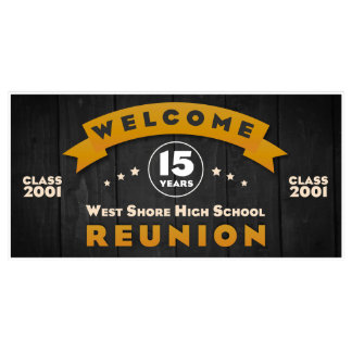 Welcome to High School Class Reunion Party Banner