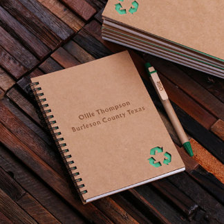 Personalized Eco-Friendly Notebook & Pen