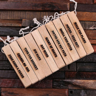 Personalized Camphor Wood Strips – 10 pcs