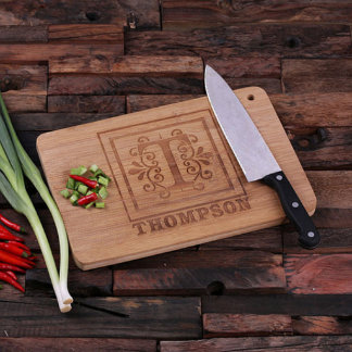 Personalized Family Name Bamboo Cutting Board