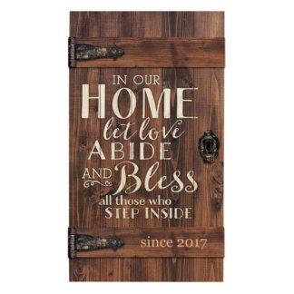 Let Love Abide Barn Door Pallet Plaque