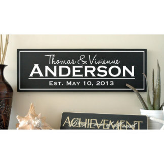 Modern Family Established Sign with Cut Vinyl