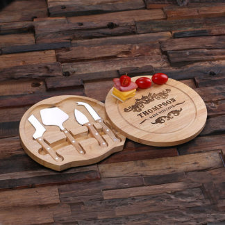 Personalized Wood Cutting Bread Board w/Tools