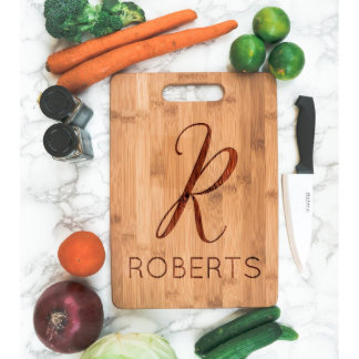 Personalized Cutting Board with Initial First Name