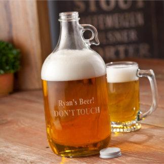 """Craft Beer Personalized """"Brewmasters"""" Beer Growler"""