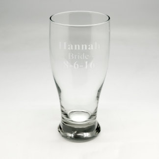 Custom Sand Etched Pub Glass #18