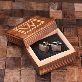 Personalized Engraved Classic Cuff Links w/ Box