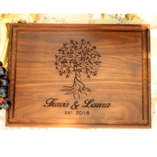 Personalized Cutting Board with Juice Groove