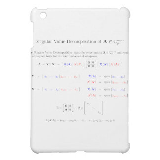 SVD and the fundamental spaces iPad Mini Covers
