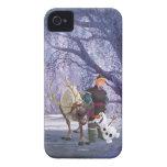 Sven, Olaf y Kristoff iPhone 4 Case-Mate Cobertura