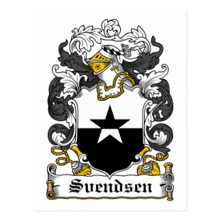 Svendsen Family Crest Postcard