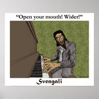 Svengali at the piano poster