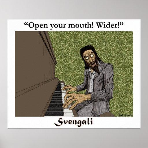 Svengali en el piano póster