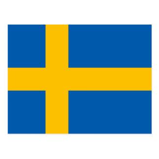 Svensk azul y amarillo Flagga de la bandera sueca Postal