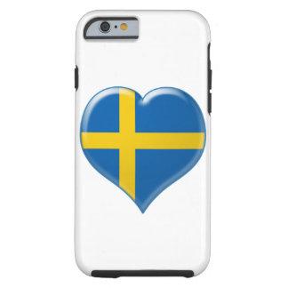 Svensk hjärta charm tough iPhone 6 case