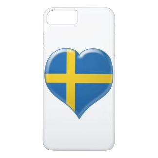 Svensk hjärta charm iPhone 7 plus case