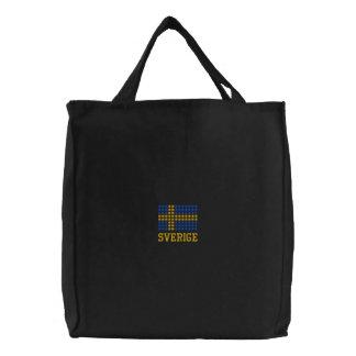 Svenska flaggan varukorg  - Swedish Flag Tote Bag