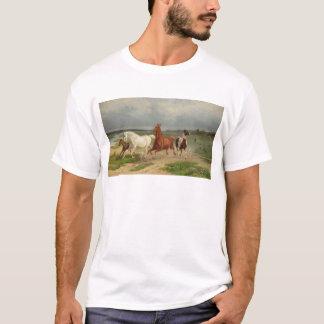 Svenska: Flyende hästar T-Shirt