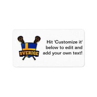 Svenska Sweden Lacrosse Address Label
