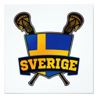 Svenska Sweden Lacrosse Card