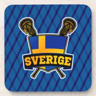 Svenska Sweden Lacrosse Cork Coasters