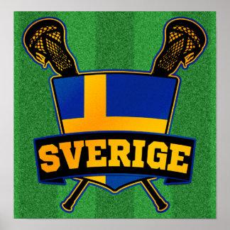Svenska Sweden Lacrosse Print