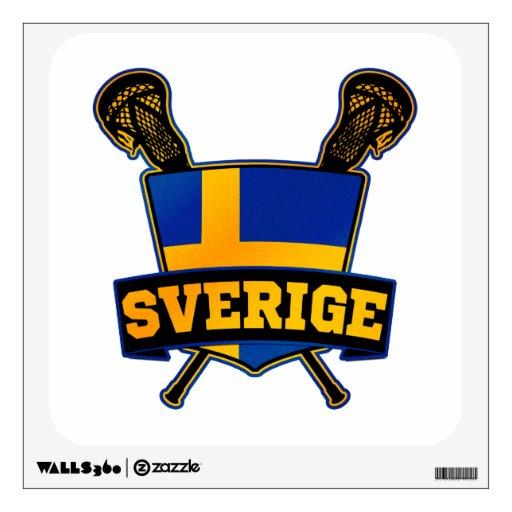 Svenska Sweden Lacrosse Wall Graphics