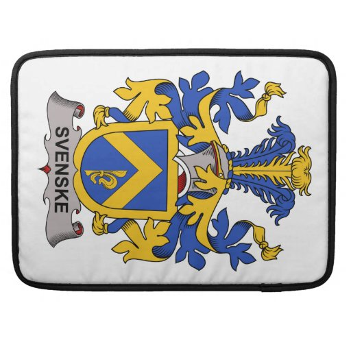 Svenske Family Crest MacBook Pro Sleeves