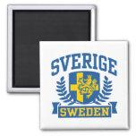 Sverige 2 Inch Square Magnet