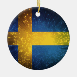 Sverige Bandera de Suecia Adornos De Navidad